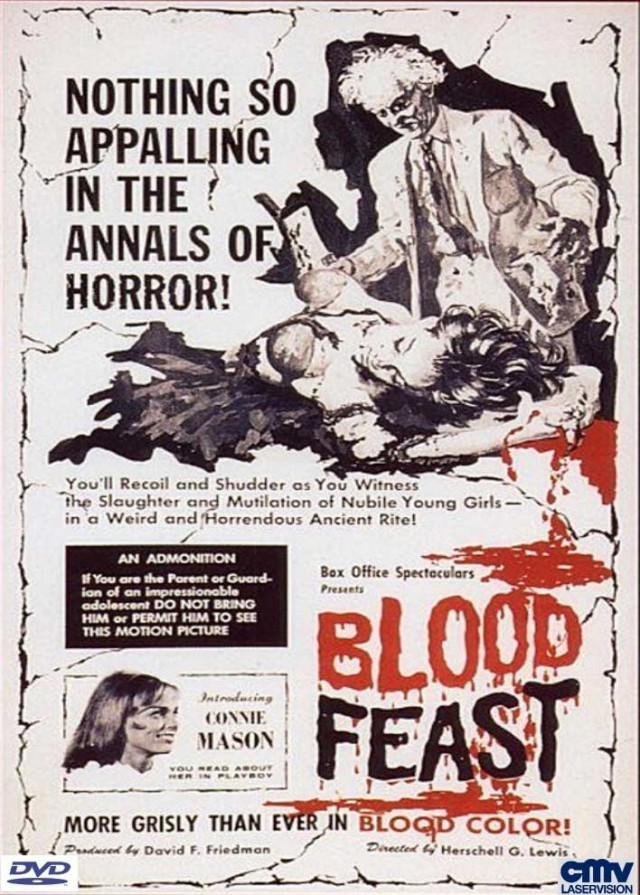 "Das deutsche DVD Cover des Originals ""Blood Feast"" von CMV Laservision"