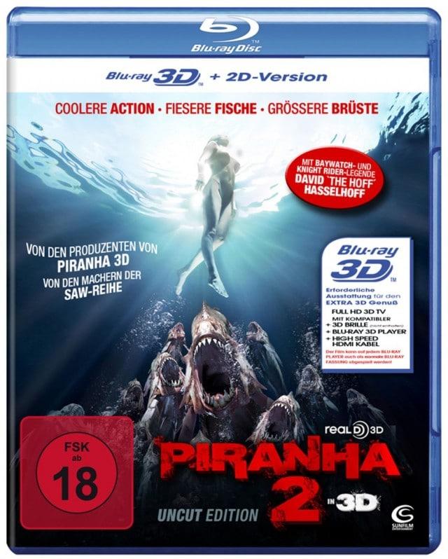 Piranha 2 3D Uncut FSK 18 3D Blu-ray
