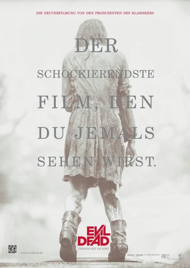Evil Dead - Deutscher Kinostart - Teaserplakat