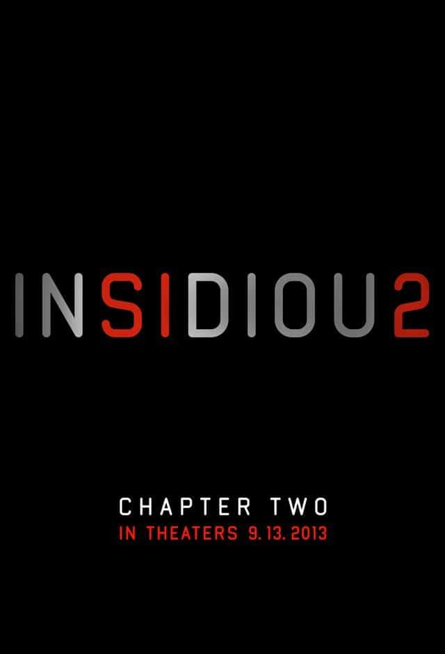 Insidious 2 - US Kinostart Poster