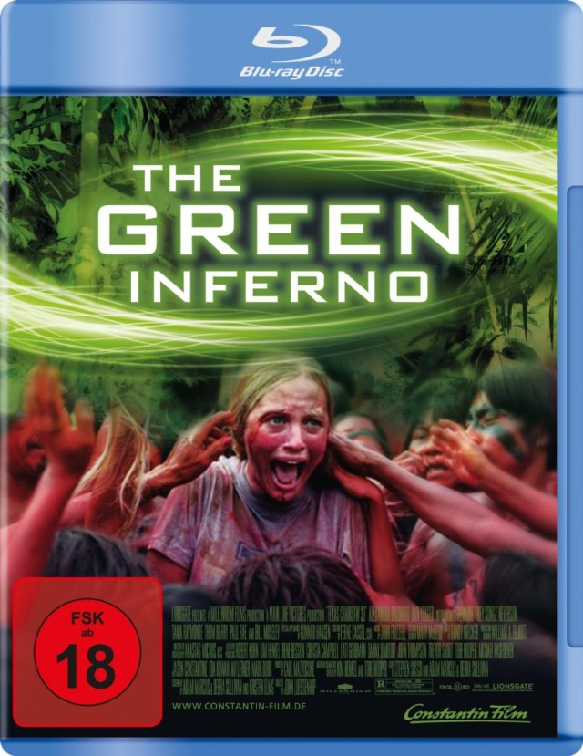 The Green Inferno - Blu-ray Cover FSK 18