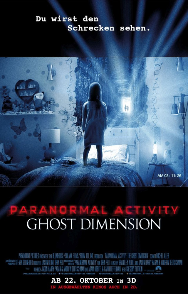 Paranormal Activity 5 - Ghost Dimension 3D Deutsches Kinoposter