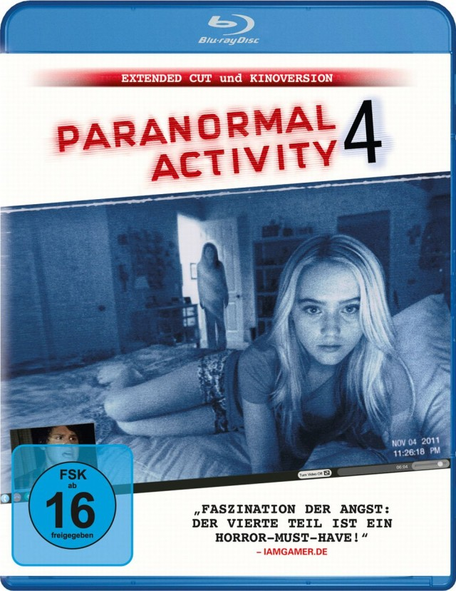 Paranormal Activity 4 - Bluray Cover FSK 16