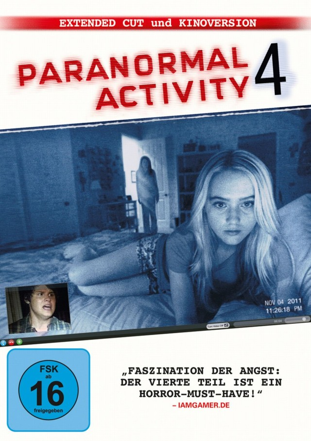 Paranormal Activity 4 - DVD Cover FSK 16