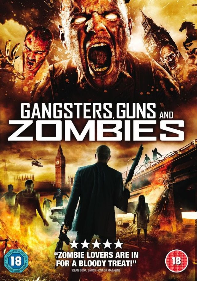 Gangsters Guns And Zombies UK DVD Cover