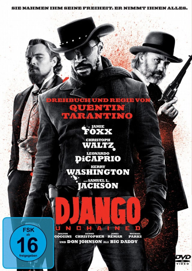 Django Unchained - DVD Cover FSK 16