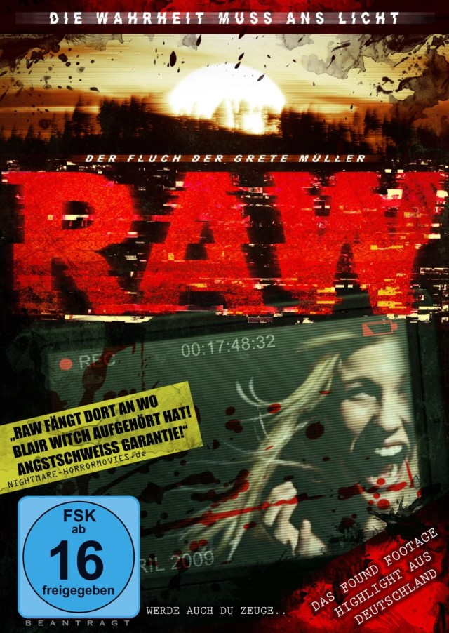 RAW - the curse of grete mueller - DVD Cover FSK 16