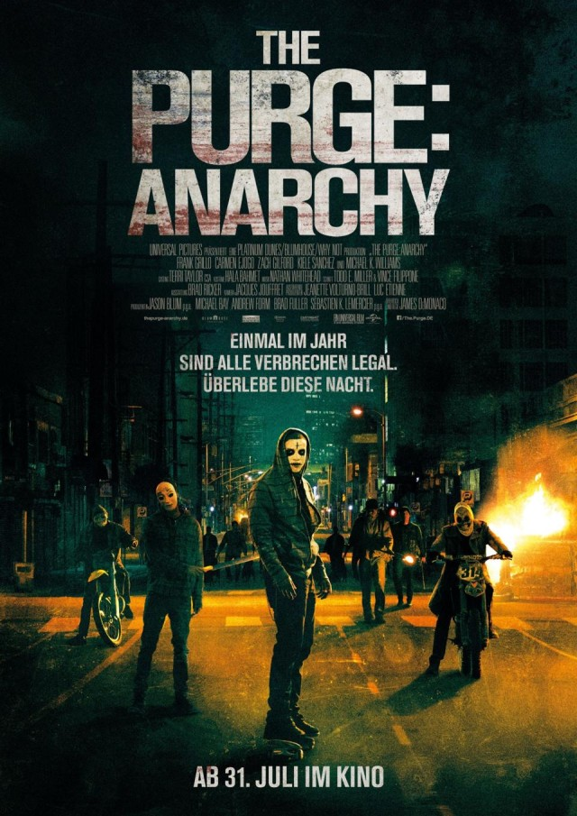 The Purge 2 Anarchy - Deutscher Kinostart Poster