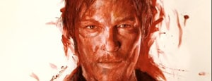 [Kunst] Portait von Daryl aus The Walking Dead mit Blut gemalt