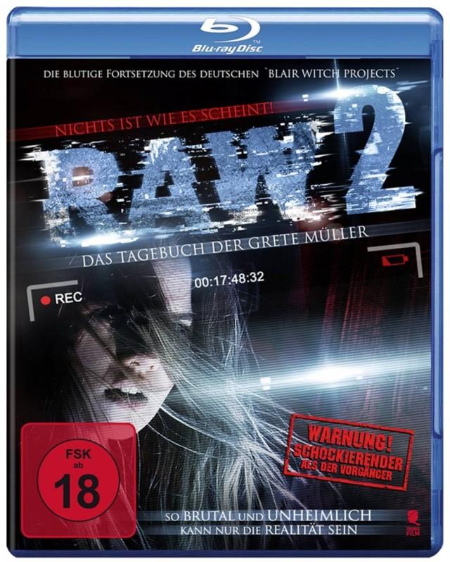 RAW 2 - Das Tagebuch der Grete Müller - Blu-ray Cover FSK 18