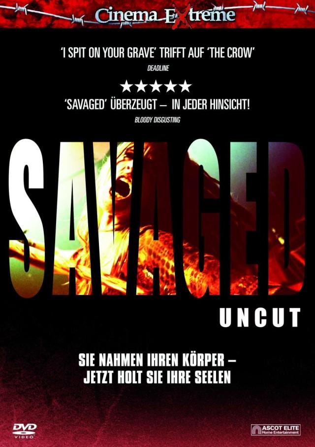 Savaged - DVD Cover - Cinema Extreme Edition