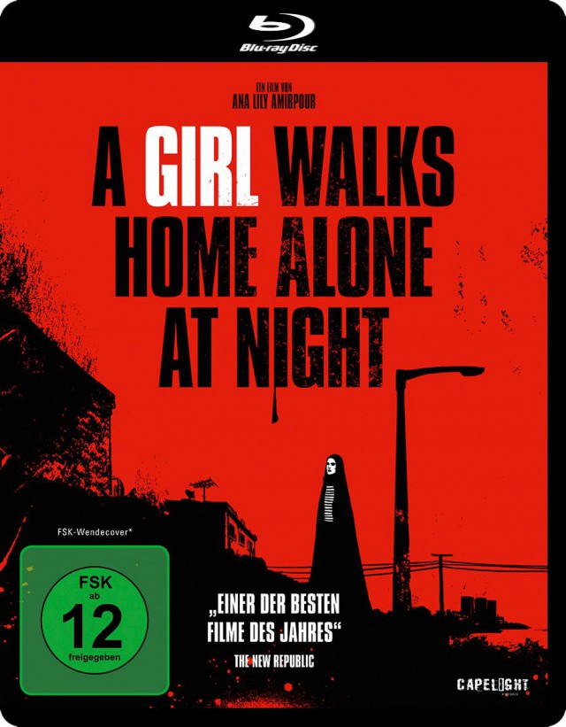 A Girl Walks Home Alone at Night - Blu-ray Cover FSK 12