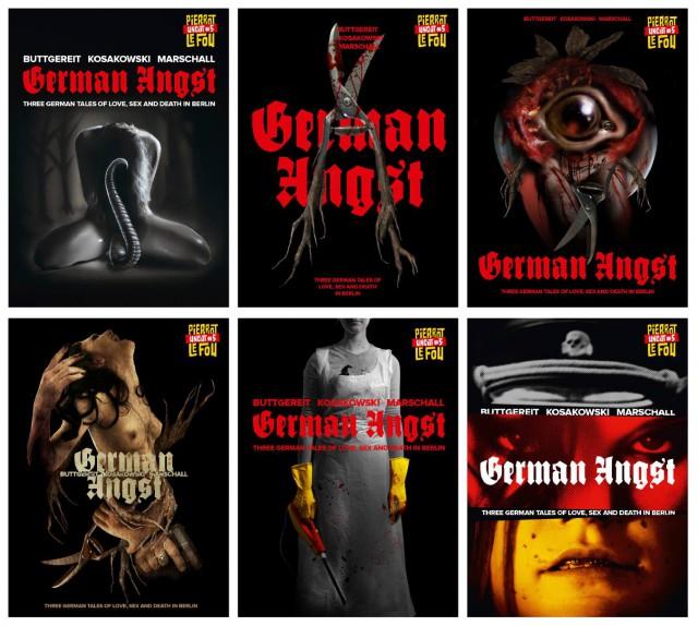 """Sechs Covermotive für """"German Angst"""", welches soll's werden?"""