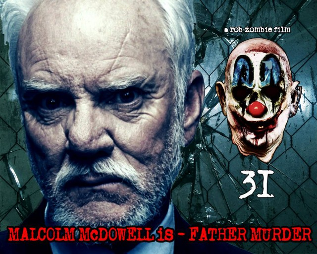 Malcolm McDowell is Father Murder