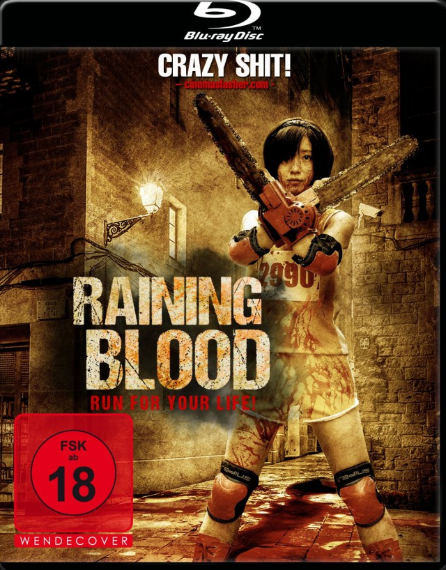Raining Blood - Run for Your Life - Blu-ray Cover FSK 18