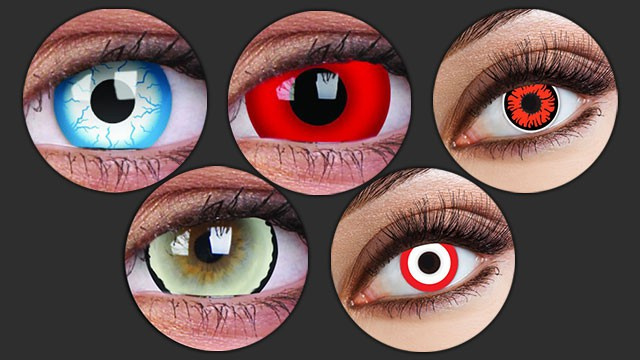 Horror-Kontaktlinsen