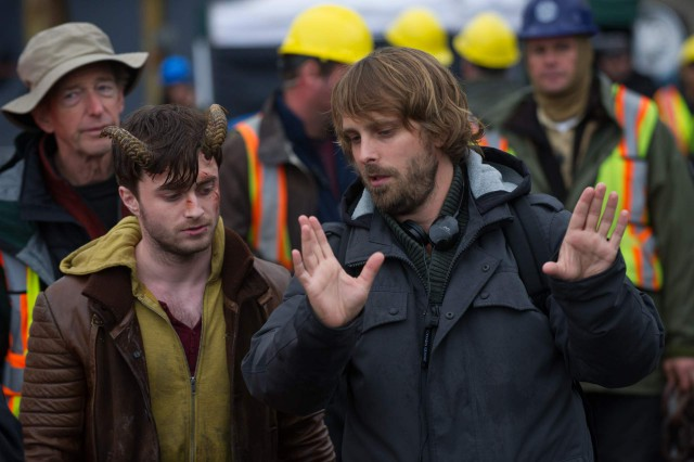 "Elijah Wood und Alexandre Aja am Set des Horrorfilms ""Horns"""