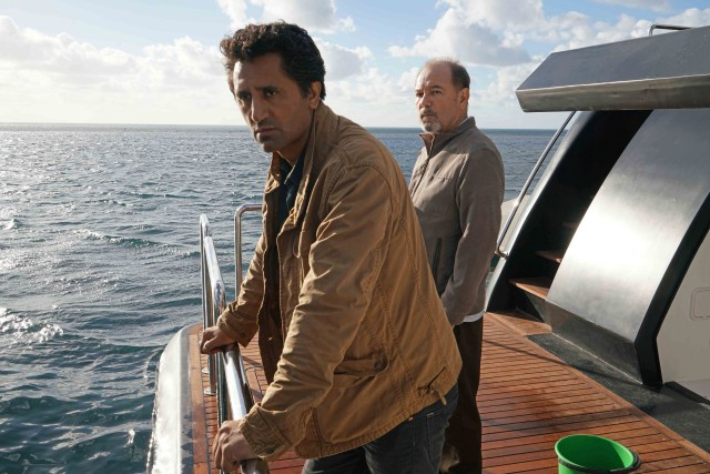 Cliff Curtis as Travis and Ruben Blades as Daniel Salazar - Fear the Walking Dead _ Season 2, First Look - Photo Credit: Richard Foreman/AMC