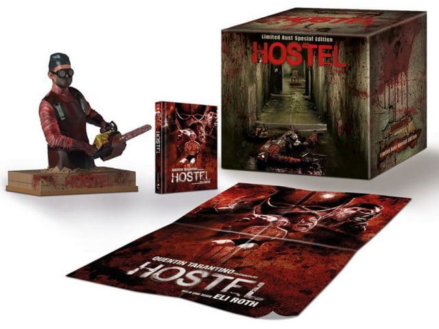 """Die """"Limited Bust Special Edition"""" von Hostel kostet 99,99 € und enthält den Film auf Blu-ray und DVD, sowie ein Poster und eine Büste"""