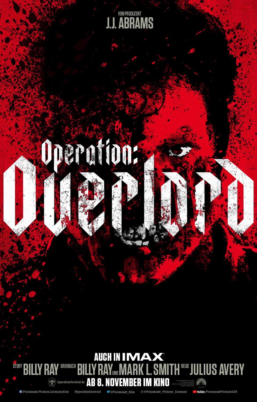 "Deutsches Kinoplakat zu J.J. Abrams' blutigem WW2-Horror ""Operation: Overlord"""