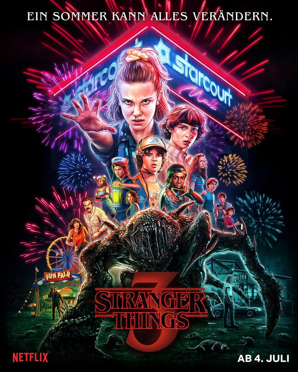 """Stranger Things 3"": Nostalgisches Tribut-Poster zur Mysteryserie"