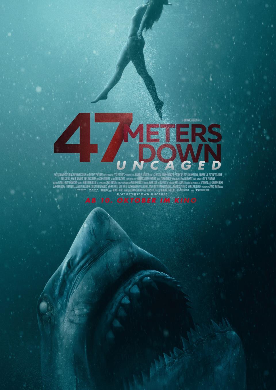 """Zum Kinostart: Der deutsche Trailer zu """"47 Meters Down: Uncaged"""" ist da!"""