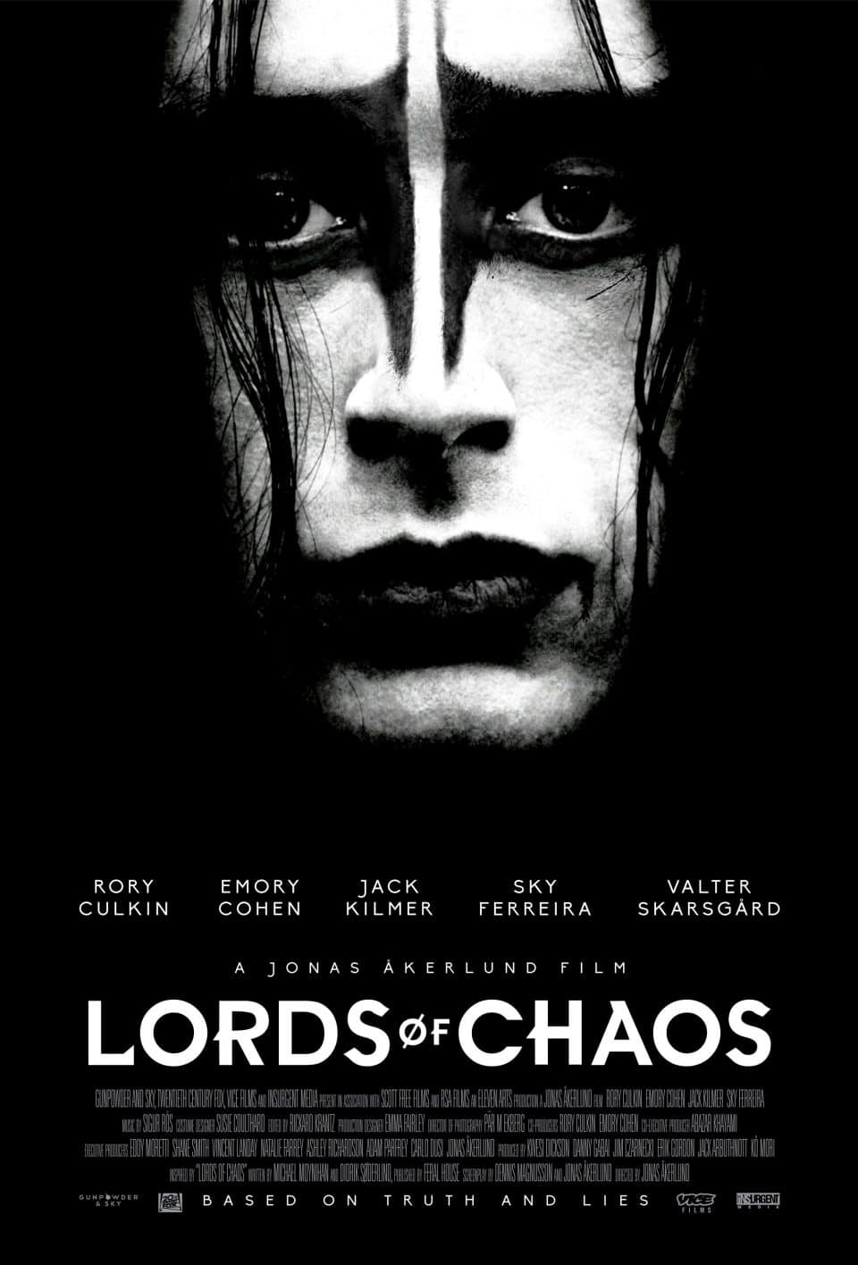 "Poster zum Heavy Metal Horror ""Lords of Chaos"""