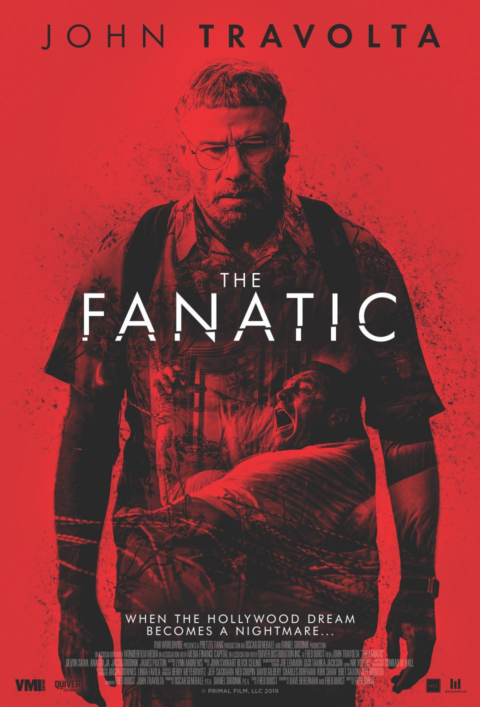"""Das ist John Travolta als schauderhafter Stalker in Fred Durst's """"The Fanatic"""""""