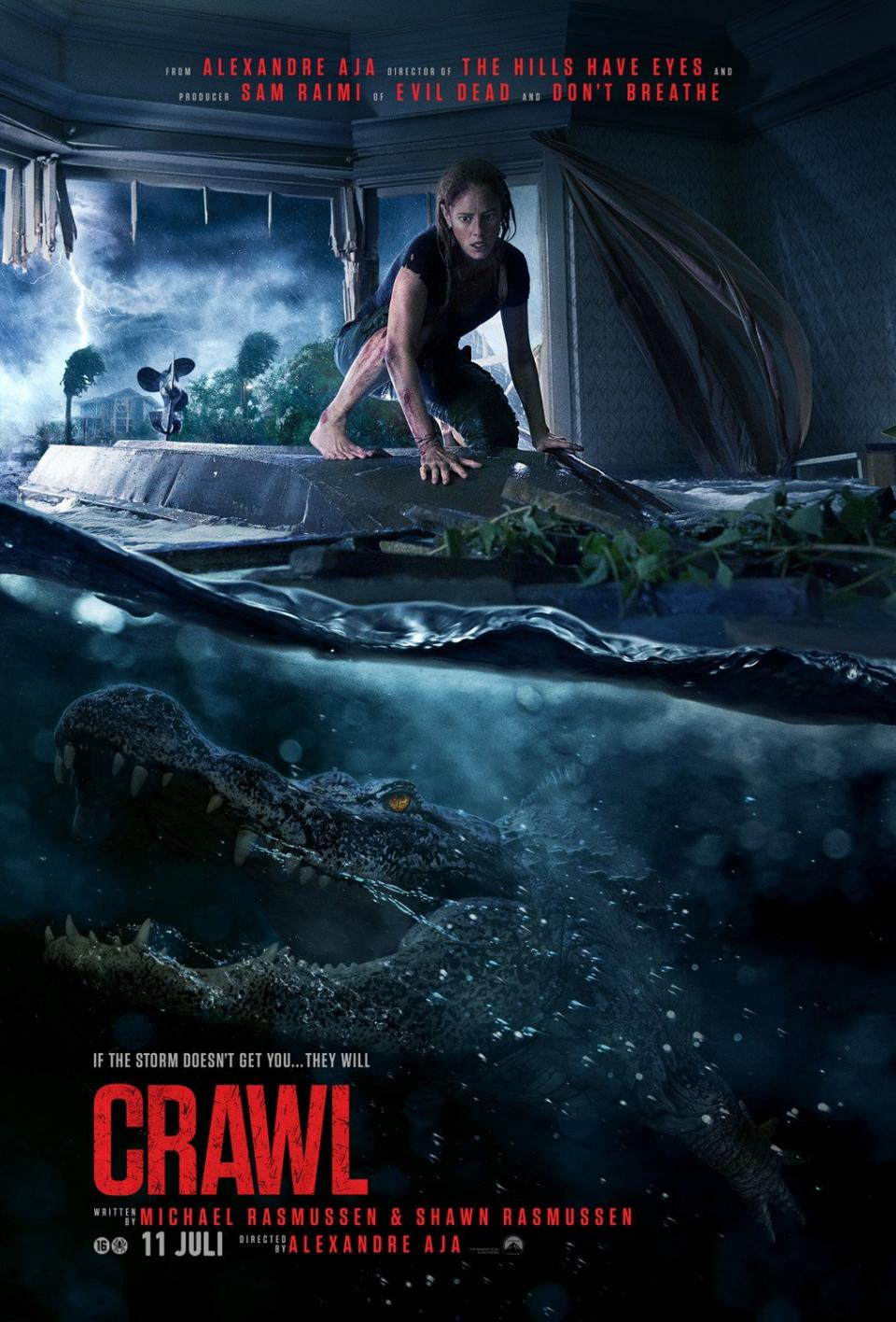 "Neues Poster zu Alexandre Aja's ""Crawl"" warnt vor bissigen Alligatoren"