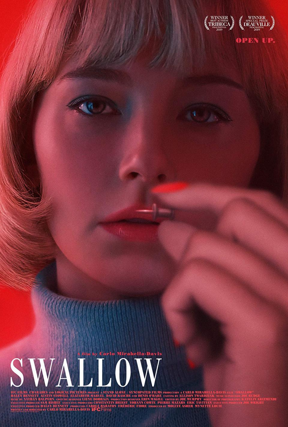 """Der Trailer zum Horror-Thriller """"Swallow"""" beansprucht eure Geschmacksnerven"""