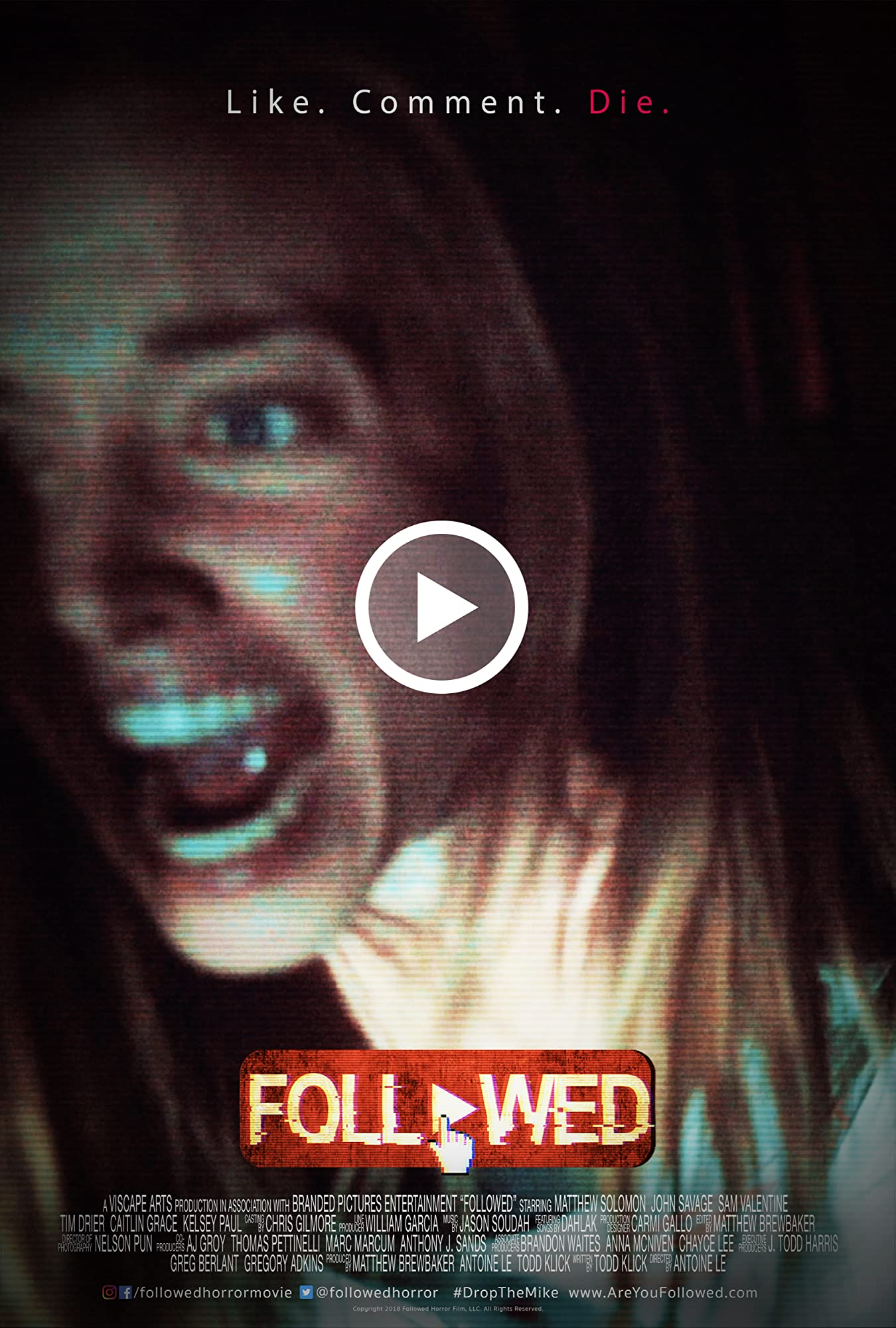"Gruseliger Trailer zum Found Footage Social-Media Horrorfilm ""Followed"""