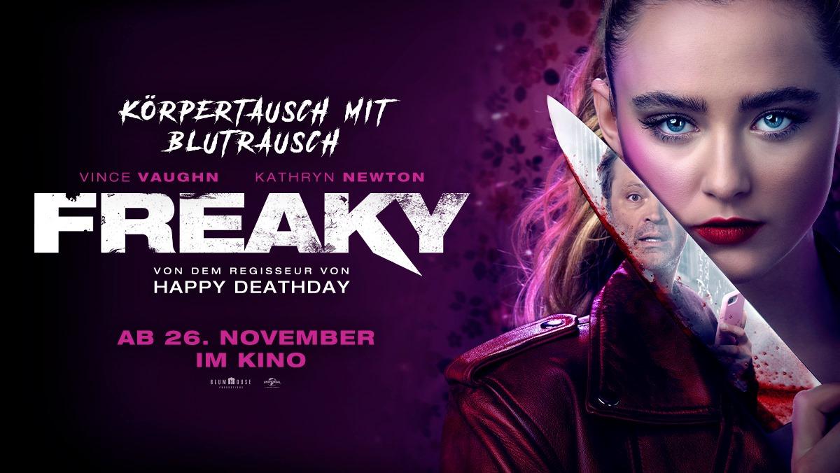 """Körpertausch mit Blutrausch: Erster Trailer und deutscher Kinostart zur Horror-Komödie """"Freaky"""""""