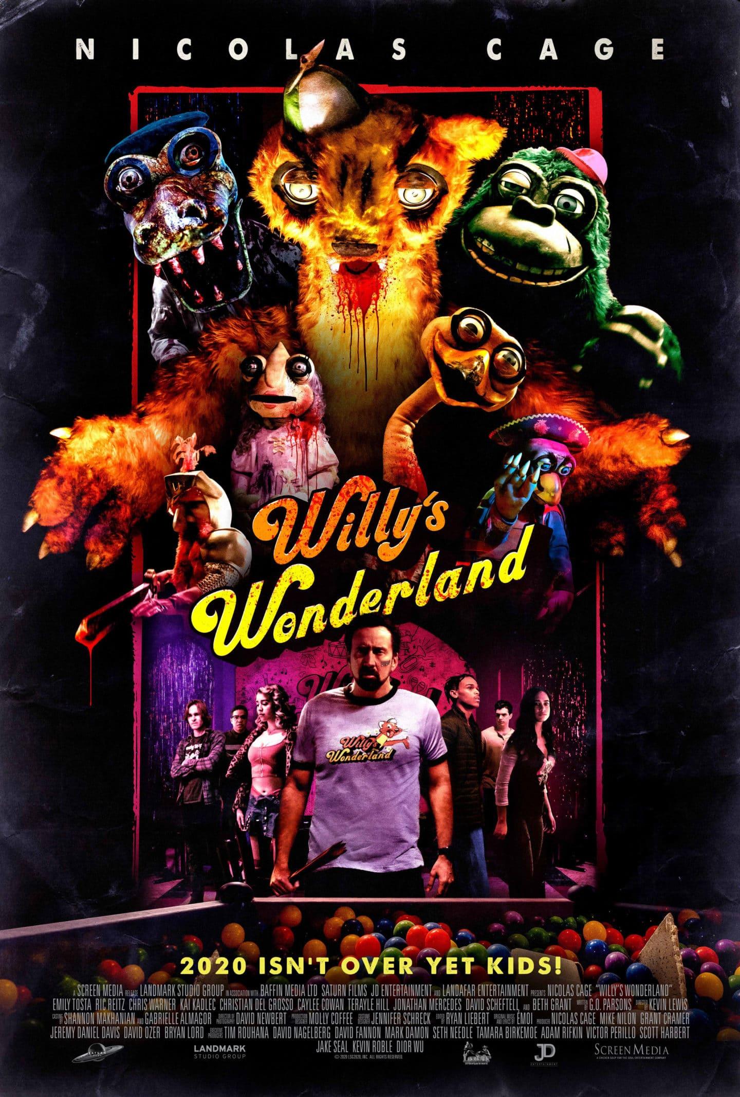 """Nicolas Cage kämpft gegen dämonische Animatronics im """"Willy's Wonderland"""" Trailer"""